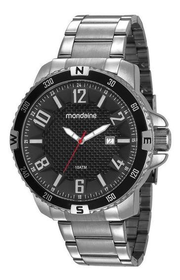 Relógio Masculino Mondaine Prata Aço 53647g0mvns2