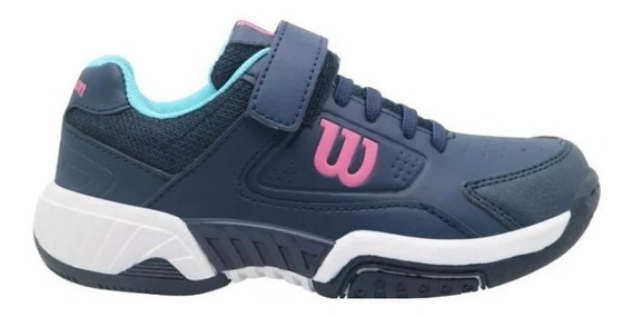 Wilson Zapatillas Game Tennis Kids Navy Pink Dxt Envíos