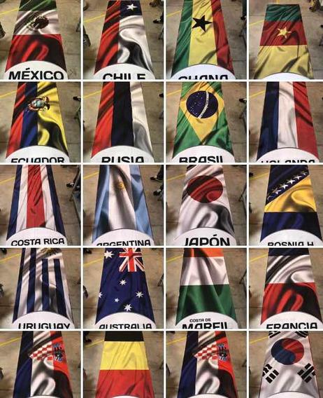 Colección De Banderas 1 M X 3m C/u Mundial