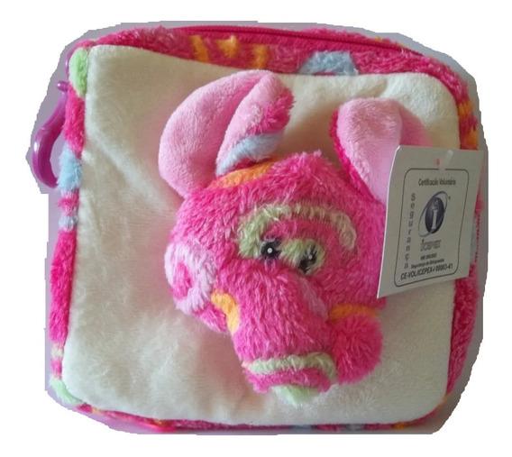 Bolsa Rosa Porta Cd Com Elefante