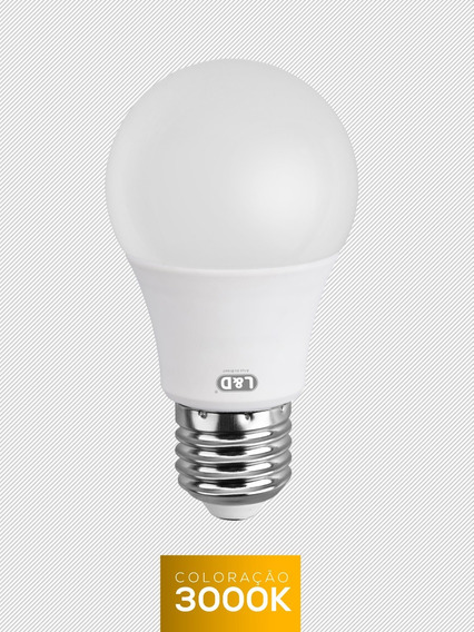 Lampada Led 12w Bulbo 20 Unid Amarela Quente L&d Inmetro