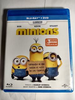 Disney Pixar Minions Incluye 3 Mini Peliculas Dvd + Bluray
