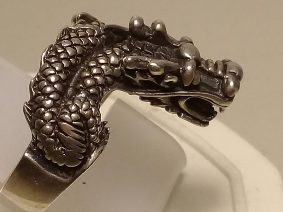 #ap27527078st - Anel Dragão Em Prata 925 - Tipo Bali