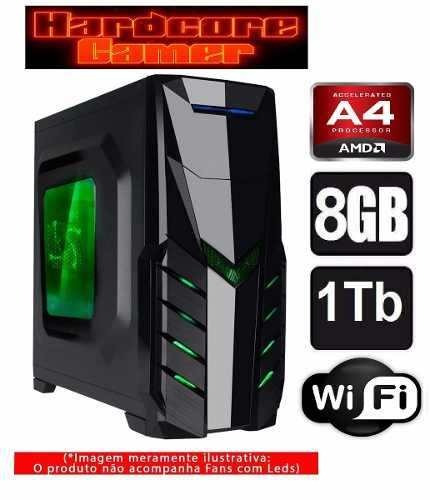 Cpu Gamer Amd A4 7300/ 1tb/ 8gb/ Hd 8470d/ + Monitor 19 Pol