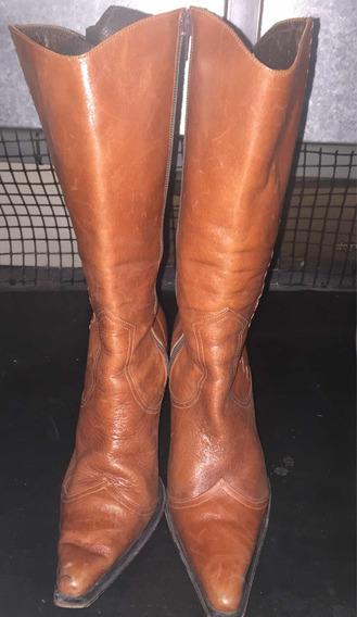 Botas Cuero Sibyl Vane Talle 39 Caña Media Color Marrón