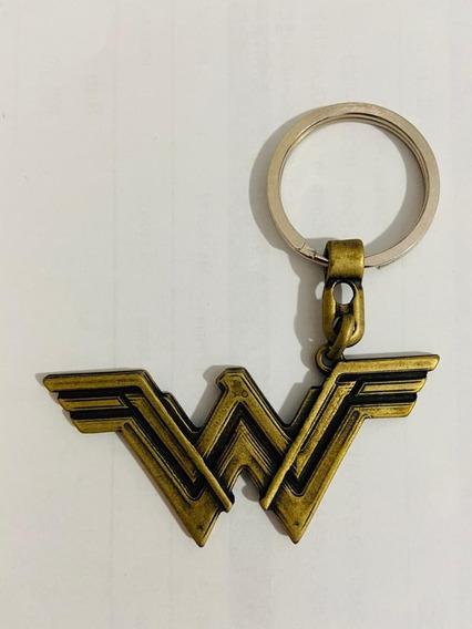 Chaveiro Metal W Mulher Maravilha Woman Liga Da Justiça