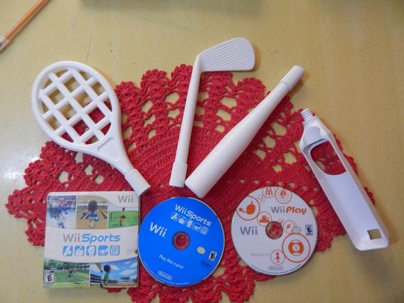 Wii Sports + Wii Play (só Disco) + Acessórios - Wii