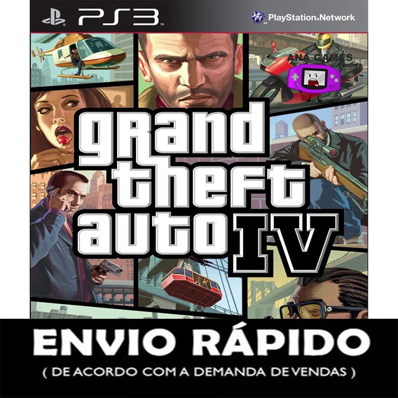 Grand Theft Auto Iv Ps3 - Jogo Digital