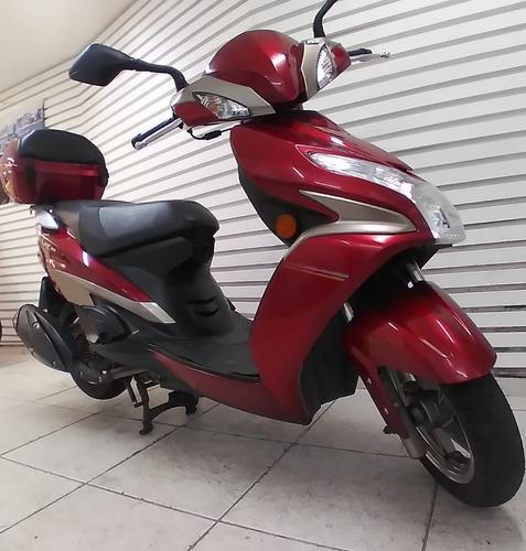 Scooter Haojue Vr-150fi Cbs Alarme E Bauleto De Fábrica