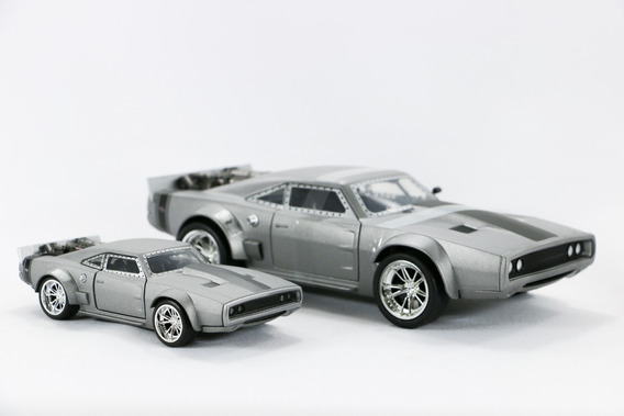 Dupla De Dodge Charger 1970 Dom S Ice 1:24 E 1:32 Jada