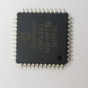 10 Pares Pic32mx440f256h-80i/pt + Enc424j600-i/pt Microchip