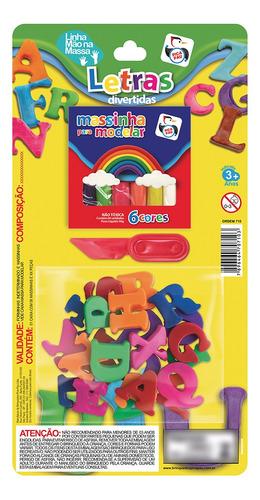 Imagem 1 de 3 de Brinquedo Massinha E Letras Cores Diversas Pica Pau