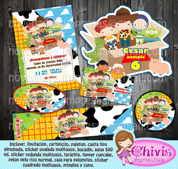 Kit Imprimible Candy Bar Toy Story Kids Editable Ppt