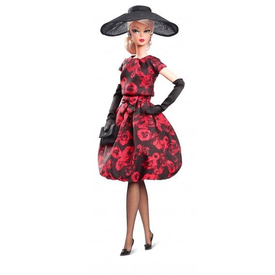 Barbie Elegant Rose Cocktail Dress Doll Fjh77 Colecionavel