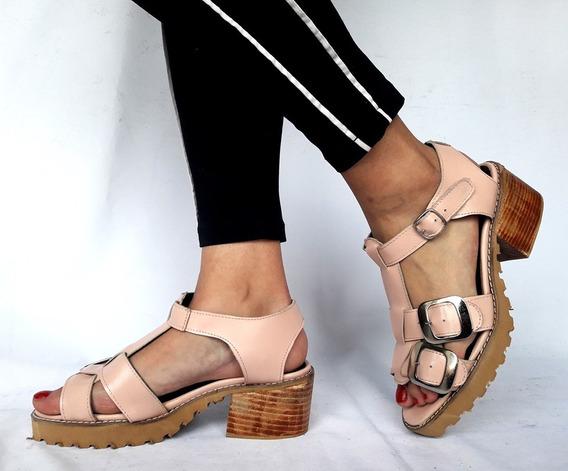 Sandalias Forradas Sam123 Oferta Cuero Talles Grandes Ari