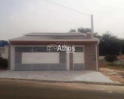 Linda Casa Térrea No Jardim União, Indaiatuba/sp, Com 3 Quartos (1 Suíte), Churrasqueira, 2 Vagas De Garagem Coberta. - Ca04246 - 34077988