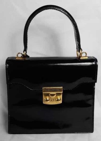 Bolsa Victor Hugo Verniz Negro Vintage