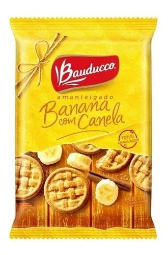 Imagem 1 de 1 de Biscoito Amanteigado Banana Com Canela Bauducco 375g