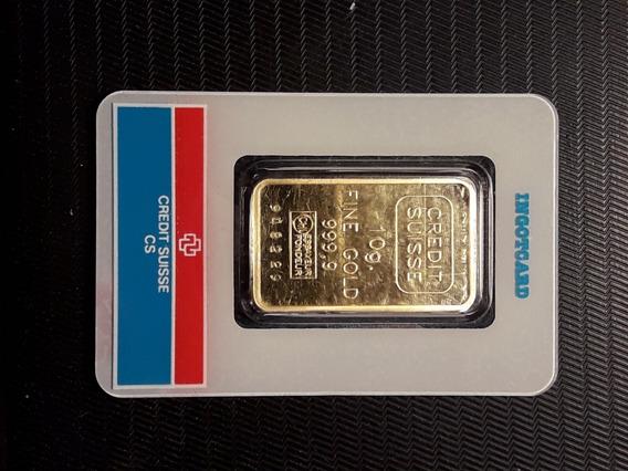Lingote De Oro 10 Gramos - 24 K - Credit Suisse