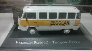 Carros Inesqueciveis Brasil Kombi Escolar Vw Miniatura1/43