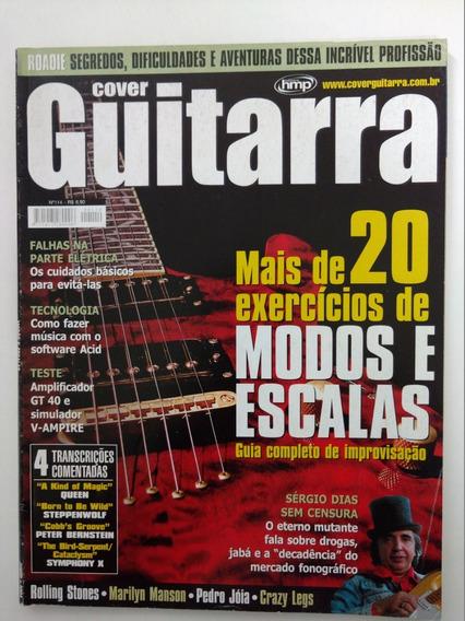 Revista Cover Guitarra N° 114 Sérgio Dias Exercícios Escalas