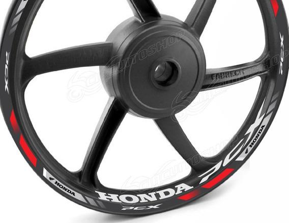 Friso + Adesivo Refletivo Interno M4 Roda Moto Honda Pcx 150