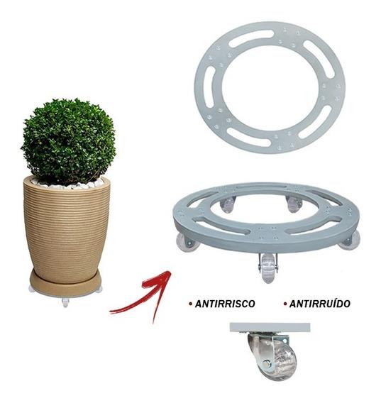 Suporte Base De Aluminio Redondo Roda Silicone Gel R 25x25