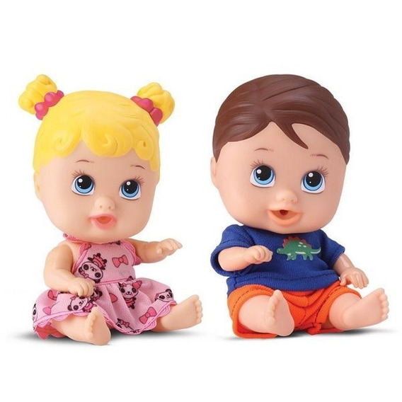 Bonecos Baby Little Dolls Gêmeos Alive - Divertoys
