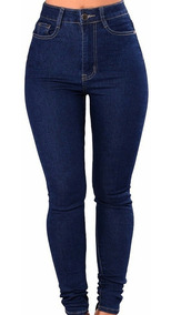 Pantalon De Jeans Mujer Alto Talle 36 Al 46 Chupines Calce