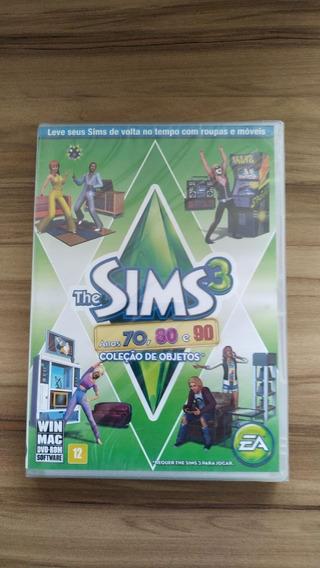 Jogo De Pc The Sims 3 Anos 70,80, 90 Coleção De Objetos Novo