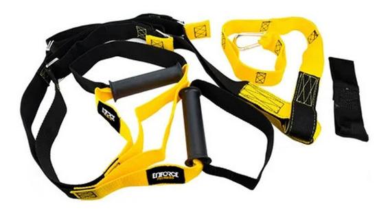 Fita Treinamento Suspensão Trx Completo Preto / Amarelo