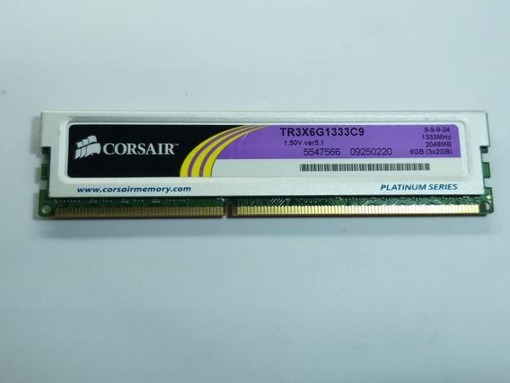 Memória Corsair 2gb Xms3 Ddr3 1600mhz Usada