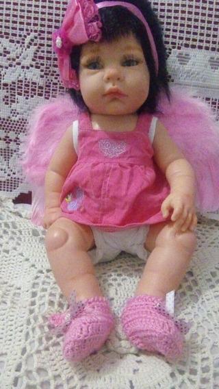 Bebê Reborn Anjo Menina Toma Banho