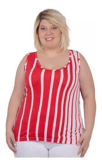 Musculosa Portofem Con Breteles Anchos - Talles Grandes