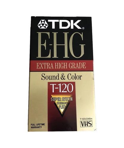 Vhs Tdk E-hg T-120 - Nuevo