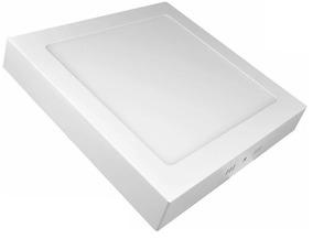 Kit 5 Painel Plafon Led 18w Branco Frio Quadrado Sobrepor