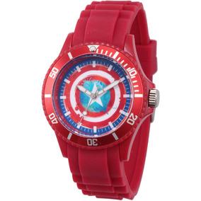 Reloj Marvel Para Hombre Wma000066 Capitán América Rojo