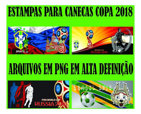 Estampas Copa Do Mundo 2018 Canecas Em Png