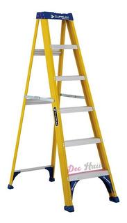 Escalera Tijera Fibra De Vidrio 1,8 Mt 6 Peld 200kg/dec Haus