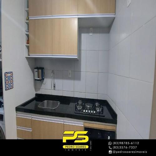 (oportunidade)  Apartamento Com 2 Dormitórios À Venda, 59 M² Por R$ 125.000 - Cidade Dos Colibris - João Pessoa/pb - Ap4639