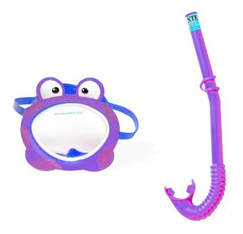 Careta Para Bebés Máscara De Buceo Infantil Diseño Rana Mnr
