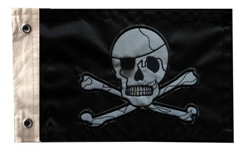 Bandeira De Pirata Para Moto Bordada Dupla Face