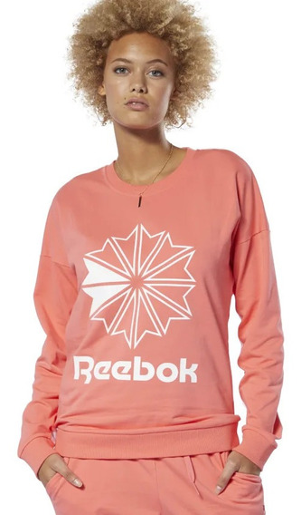 Buzo Lifestyle Reebok Cl Ft Big Logo Crew Mujer Dt7245 In