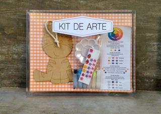 Kit De Arte Infantil Set Temperas Y Figura De Madera Rosario
