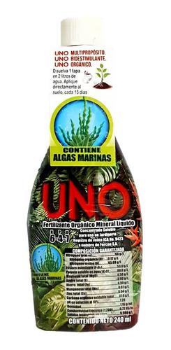 Fertilizante Nutriente Liquido Uno Npk 240ml Cultivo Jardín