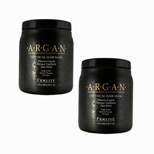 Imagen 1 de 2 de Fidelite Mascara Mythical Hair Argán Baño De Crema 1 Kl X 2