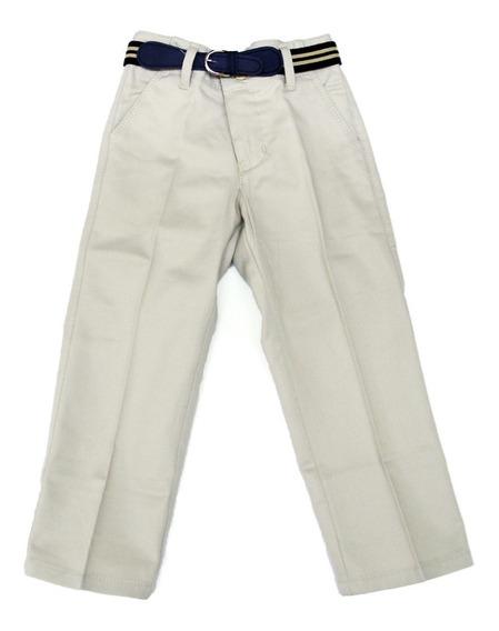 Pantalon Niño Punch #8 A 16 Kaki Negro Beige Blanco Marino