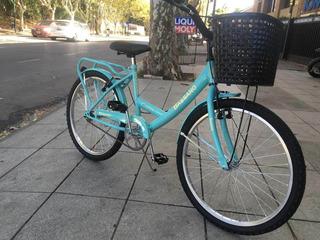 Bicicleta Bassano Full Niña Rodado 24 Opción Vintage Retro