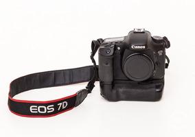 Canon 7d Com Grip Original Usada
