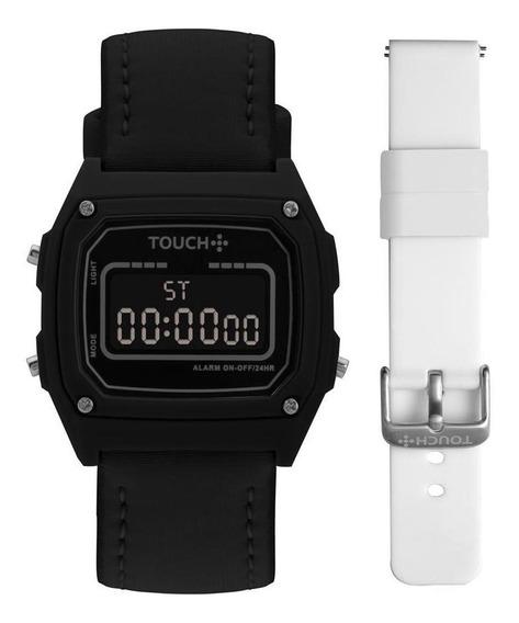 Relógio Unissex Touch Dourado - Original